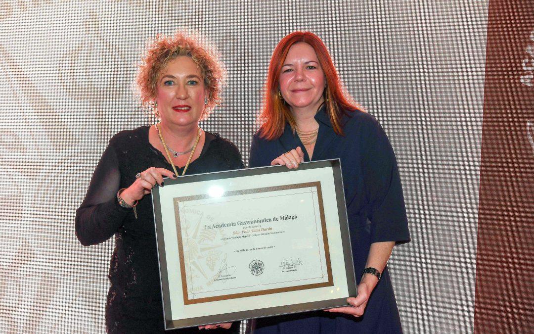 La labor de Pilar Salas premiada por la Academia Gastronómica de Málaga