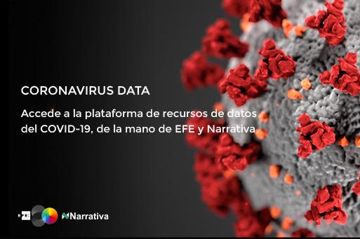 EFE ofrece en abierto datos y gráficos sobre la pandemia COVID-19, desarrollados con Narrativa