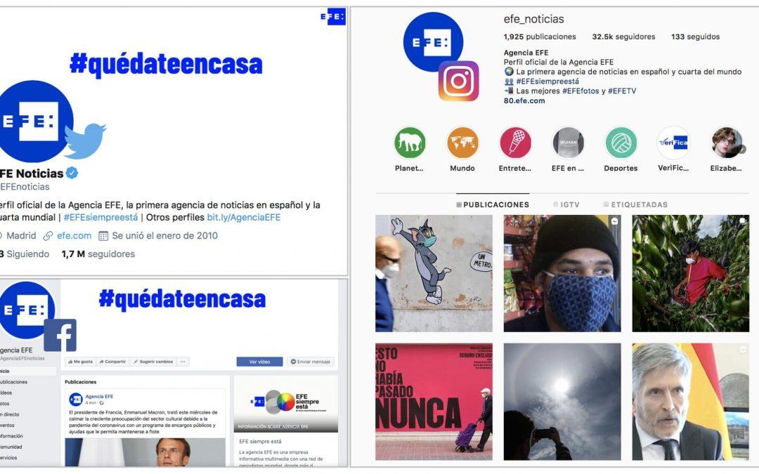 Éxito de EFE en redes sociales: 1,75 millones de seguidores en Twitter y crecimiento de Instagram, Facebook y webs