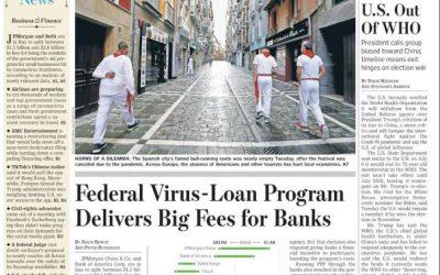 The Wall Street Journal lleva a primera una fotografía de Jesús Diges de una Pamplona sin toros, ni encierro un 7 de julio