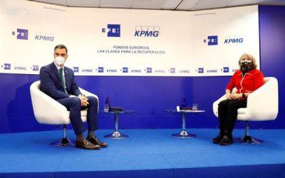El conversatorio entre la presidenta de EFE y Pedro Sánchez, un éxito en directo