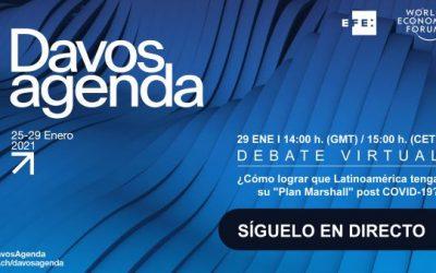 EFE lleva a Davos el debate sobre la recuperación postcovid de Latinoamérica