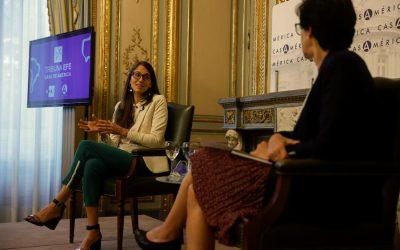 """La ministra argentina de las Mujeres en la Tribuna EFE-Casa América: """"la agenda de género está a resguardo"""""""